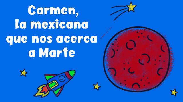 Carmen Feliz Chaidez y Marte-Super heroína de la cienca Zigzag
