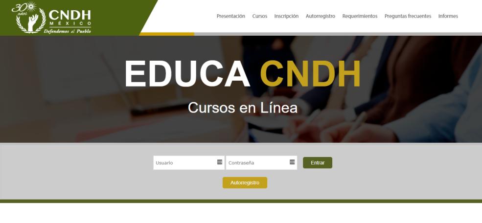 Cursos en línea CNDH