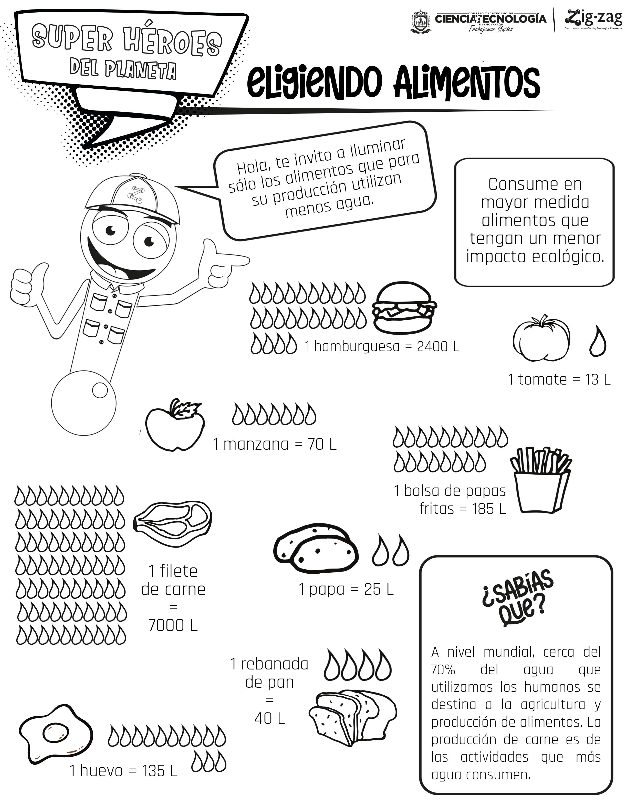 Colorea-Zigzag-Eligiendo-Alimentos