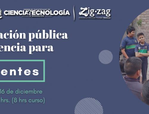 Curso Comunicación Pública de la Ciencia para Docentes